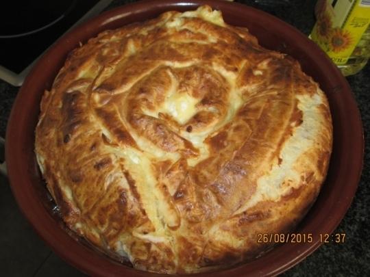 Баница със сирене и кисело мляко