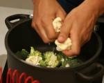 Крем супа от карфиол и броколи 2