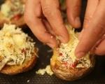 Пълнени картофи с гъби и броколи 8