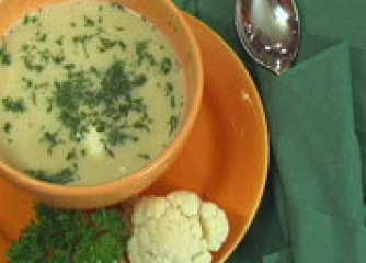 Супа от печен карфиол