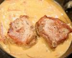 Свински пържоли с чушки и сметана 5