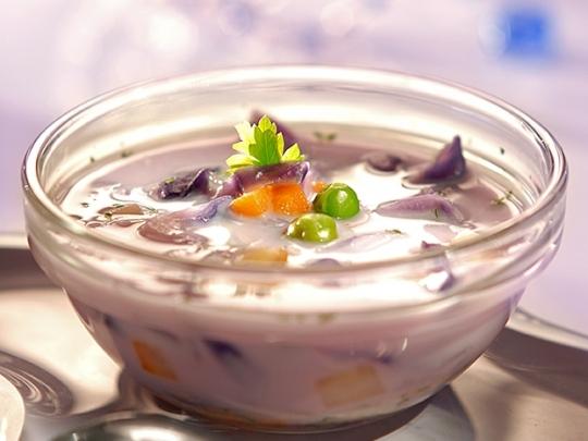 Млечна супа със зеленчуци