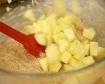 Ябълков кекс с крем и глазура 5