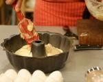 Ябълков кекс с крем и глазура 9