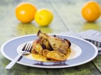 Печени пилешки бутчета с цитруси