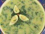 Крем супа от коприва с пъдпъдъчи яйца