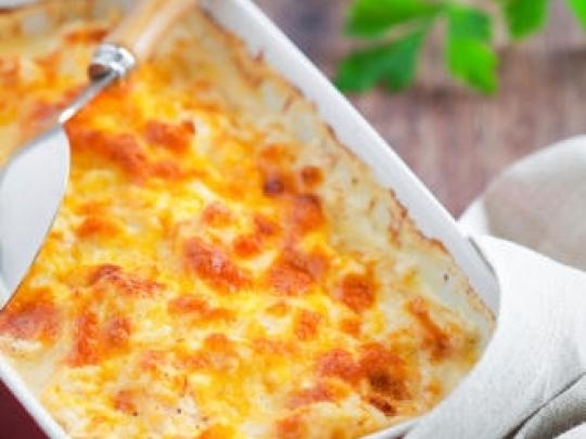 Огретен с тиквички и картофи