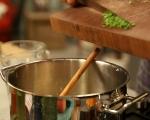 Супа от тиква със скариди и бекон 3
