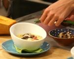 Супа от тиква със скариди и бекон 8