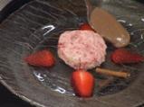 Бисквитена ягодова торта с шоколад 6