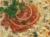 Спагети с шунка и кашкавал
