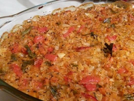 Ориз с туршия на фурна