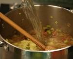 Картофена супа с праз и бекон 3
