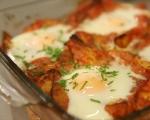 Картофи с яйца на фурна 9