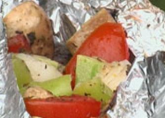 Вегетариански шишчета