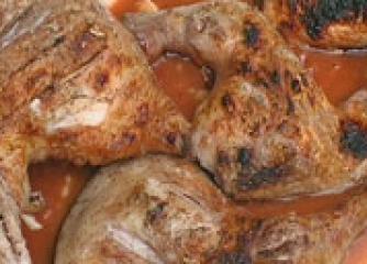 Пилешки бутчета с медено-чеснов сос