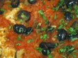 Печена риба с маслини
