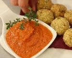 Аранчини със сос от печени чушки 11