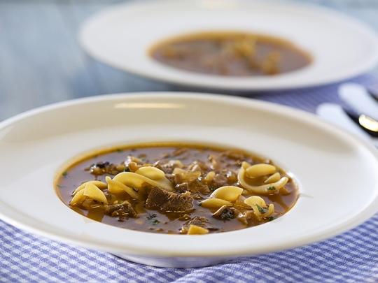 Супа с телешко и гъби