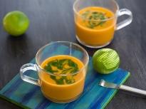 Студена супа от моркови и авокадо