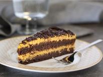 Шоколадова торта с крем от тиква
