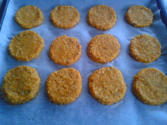 Овесени бисквити с тиква