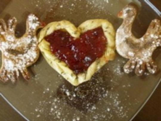 Влюбени гълъби от бутертесто