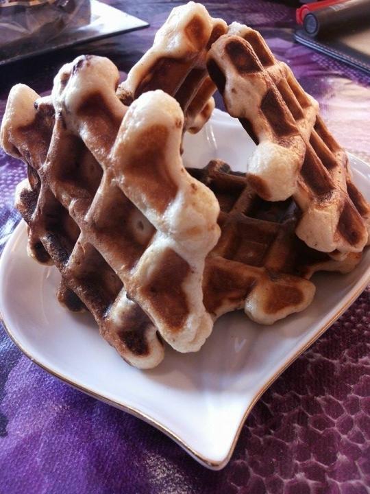 Белгийски вафли с шоколад