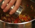 Супа с нахут и чоризо 3