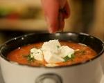 Доматена супа с булгур и сирене 5