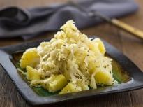 Картофена салата с кисело зеле