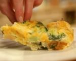 Хлебен пудинг с броколи и сирена 7
