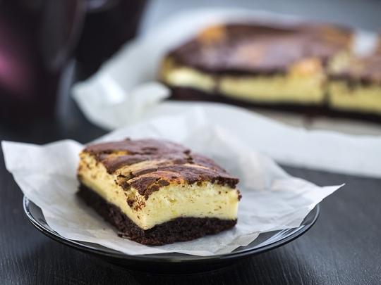 Кекс с крем сирене и какао