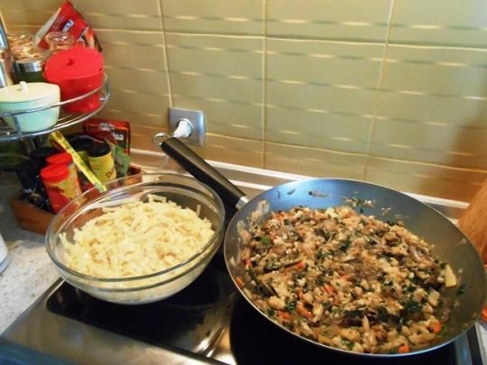 Нудълс със зеленчуци