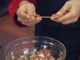Агнешки шишчета с топла салата от патладжан 2