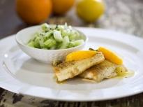 Риба с цитрусов сос и каперси