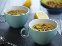 Супа от печени тиквички и нахут