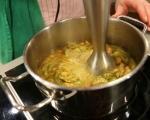 Супа от печени тиквички и нахут 8
