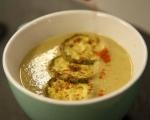 Супа от печени тиквички и нахут 9