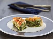 Спаначени палачинки с рагу от риба