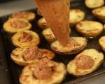 Пълнени картофи с маслини и сушени домати 5