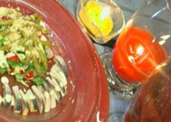 Салата от рукула с лимоново-горчичен сос