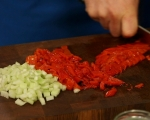 Картофена салата с грах и чушки 2