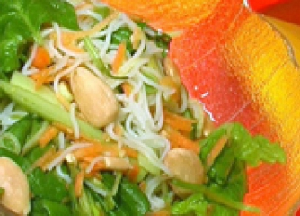 Азиатска спаначена салата