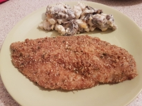 Печено пилешко с пармезан