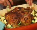 Печено пиле с пресни картофи 3