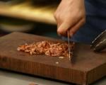 Печена маруля със синьо сирене и бекон
