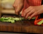 Печени зеленчуци върху канапе от ориз 3