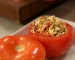 Печени домати с плънка от чушки и сирене 4