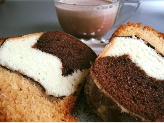 Кекс в три цвята